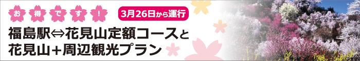福島駅-花見山定額コースと花見山+周辺観光プラン